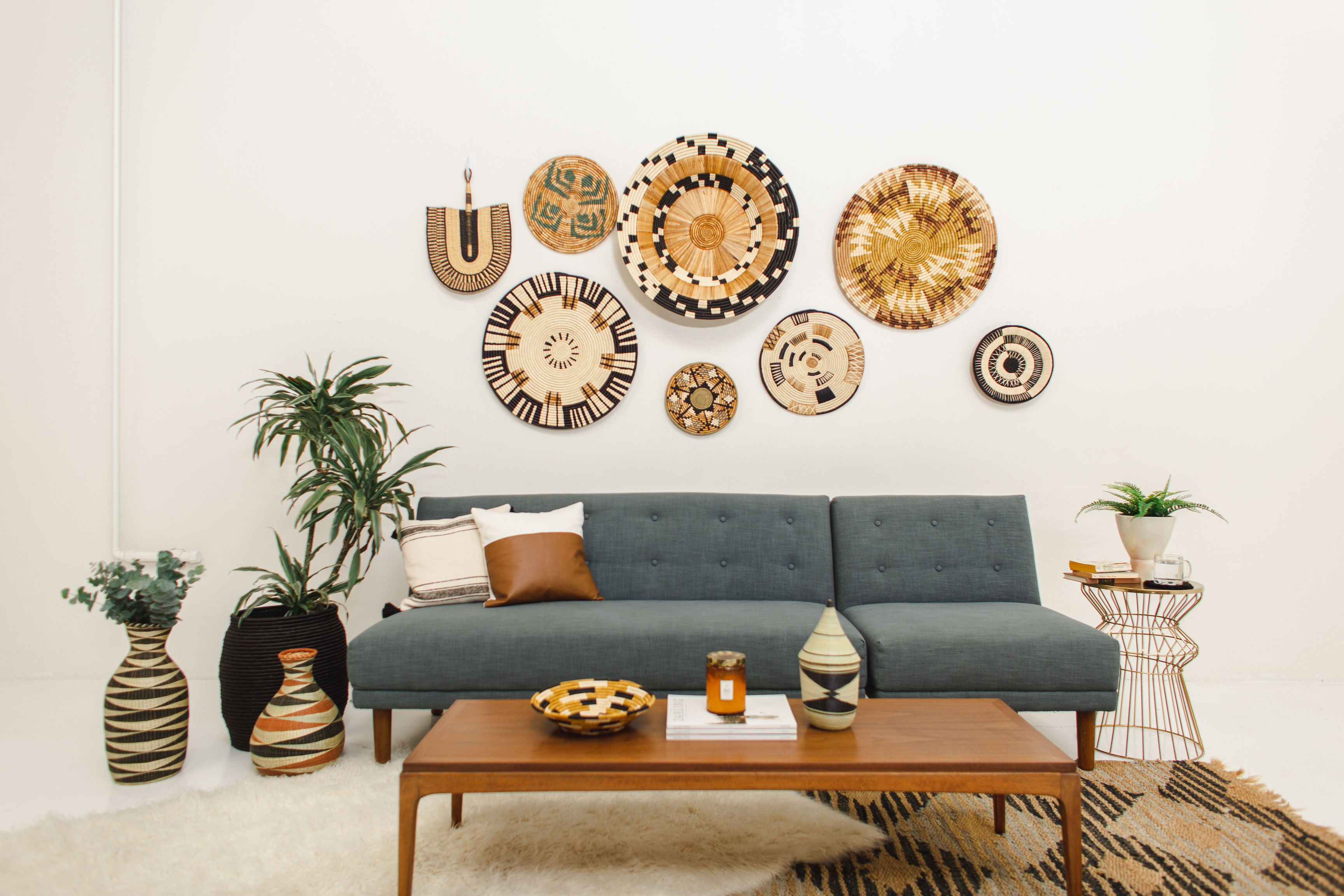 Woven Boho Living Room Accents